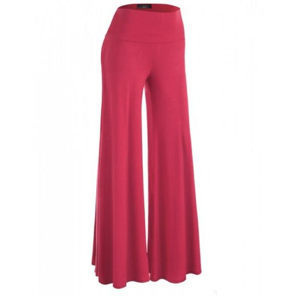 4fb7d909057d SG Boutique Pants | Plus Size Hot Pink Wide Leg Yoga Palazzo | Poshmark